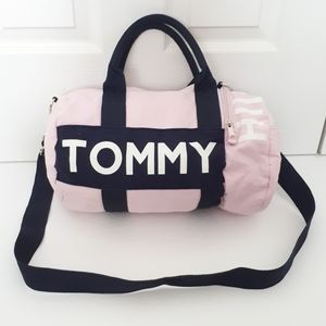 Tommy Hilfiger Pink and Navy Mini Gym Duffle Bag
